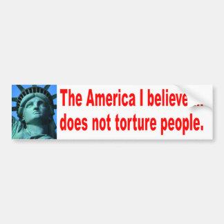 Ingen tortyr bildekal