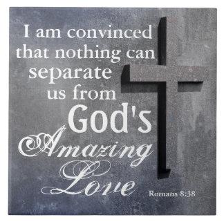 Ingenting kan avskilja oss från gud kärlek, kor kakelplatta