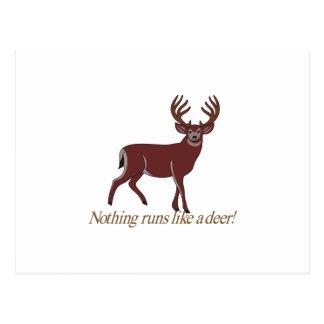 Ingenting kör något liknande en hjort vykort