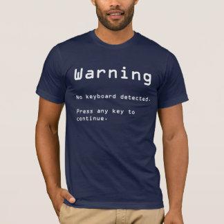 Inget avkänt tangentbord t-shirts