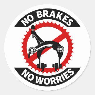 Inget bromsar inga fixade bekymmer utrustar BMX Runt Klistermärke