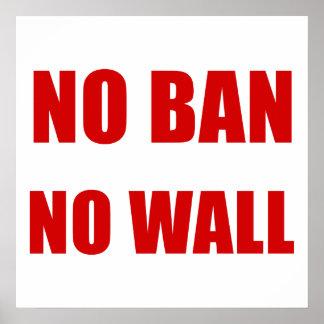 Inget förbud, ingen vägg poster