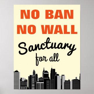Inget förbud inget invandra förbud för vägg   poster