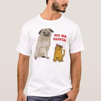 Inget hundMeme ansikte mig skjorta för Gusta katt T Shirt