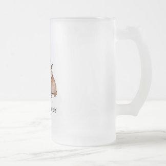 Inget kaffe frostat ölglas