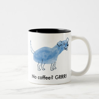 Inget kaffe? GRRR! Två-Tonad Mugg