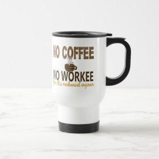 Inget kaffe ingen Workee mekanisk ingenjör Resemugg