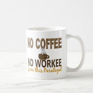 Inget kaffe ingen Workee Paralegal Vit Mugg