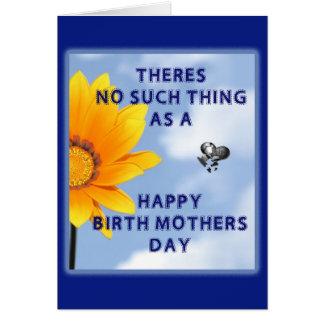 Inget lyckligt födelsemors dagkort hälsningskort