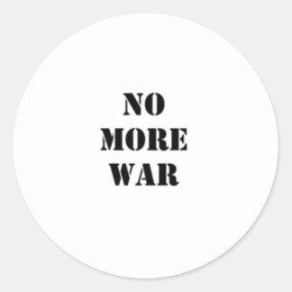Inget mer krig stencilerar runt klistermärke