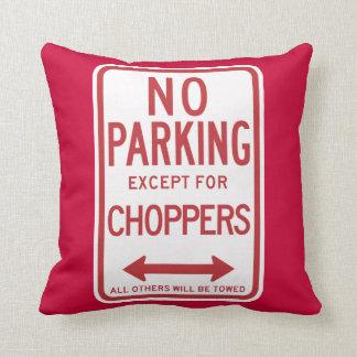 Inget parkera bortsett från avbrytare undertecknar kudde