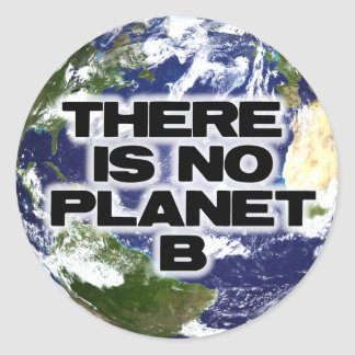 Inget planet B Runt Klistermärke