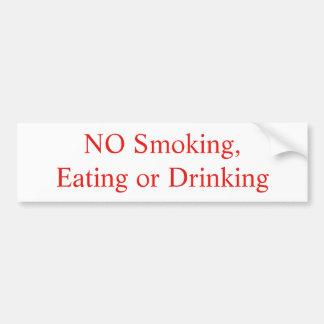 Inget - röka, äta eller dricka klistermärken