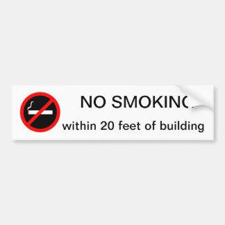 INGET - röka inom 20 fot av byggnad Bildekal