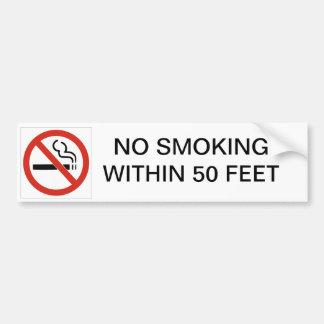 INGET - röka INOM 50 FOT BILBILDEKAL Bildekal