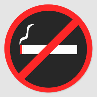 Inget - röka runt klistermärke