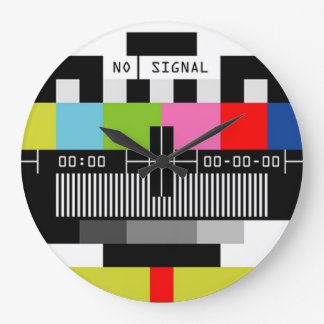 Inget signalera stor rund klocka