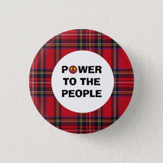 Inget skotskt självständighetfolk för treudd mini knapp rund 3.2 cm