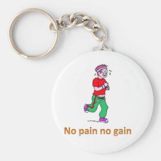 Inget smärta ingen affärsvinst rund nyckelring