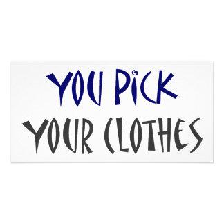 Inget väljer du upp din kläder fotokort