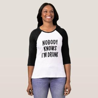 Inget vet I-förmiddag Drunk. T-shirt