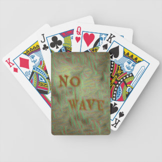 Inget vinka den mjuka Grungy designen Spelkort
