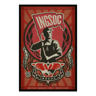 INGSOC-propagandaaffisch 1984 Poster