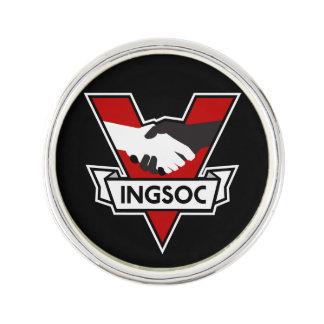 INGSOC-slag 1984 klämmer fast Kavajnål