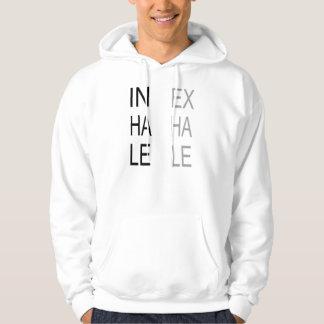 Inhalera, utandas, modern grå färgtypografi sweatshirt