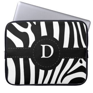 Initial D anpassningsbar för zebra rändermonogram Laptopskydd