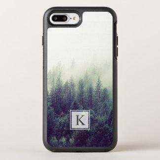 Initial modern chic Monogram för grästrädskog OtterBox Symmetry iPhone 7 Plus Skal