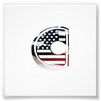 Initial Monogram C för USA flaggaamerikan Fototryck