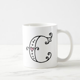Initial Monogrammugg - C Kaffemugg