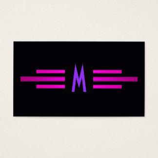 Initial Retro kall modern stilfull purpurfärgad