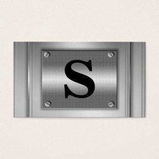 Initiala visitkortar för Look för brevsilvermetall Visitkort