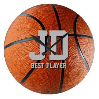 Initialer - den bäst basketväggen för spelare | stor klocka