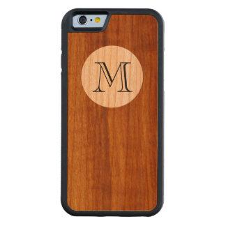 initialt brev för personlig M på trä Carved Körsbär iPhone 6 Bumper Skal