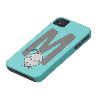 Initialt brev M, mustecknadanpassningsbar för Case-Mate iPhone 4 Skal