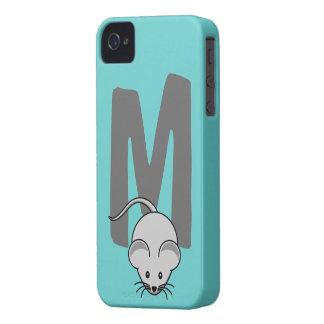 Initialt brev M, mustecknadanpassningsbar för iPhone 4 Cases
