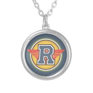 Initialt Deco brev R Silverpläterat Halsband