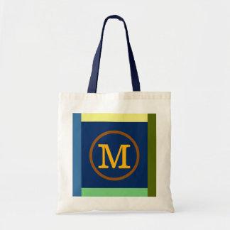 Initialt M, färger & monogram Tygkasse