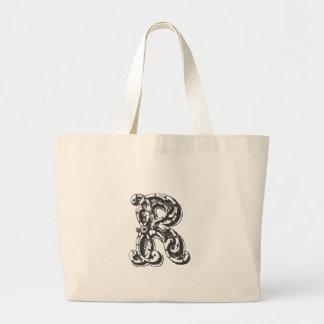 Initialt Monogrammed brev R Tote Bags