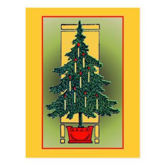 Inlagd julgran vykort