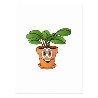 Inlagd växttecknad vykort