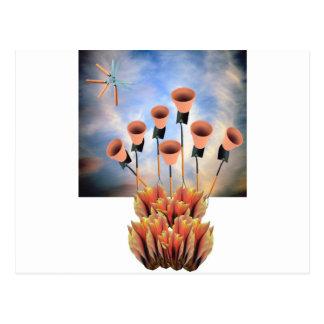 Inlagda växter vykort