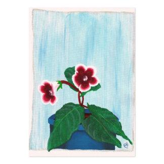 Inlagt kort för handel för Gloxiniablommakonstnär Set Av Breda Visitkort