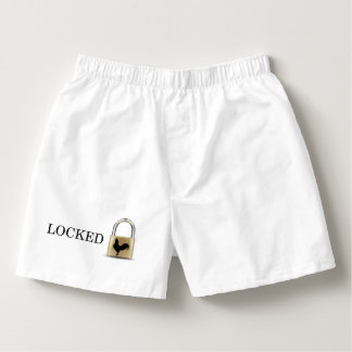 Inlåst kyskhetboxare boxers