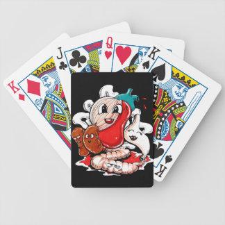 Innanmäte och blodigt spelkort