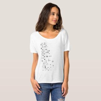 Innegrej utskrivaven tillfällig pojkvänt-skjorta tee shirts