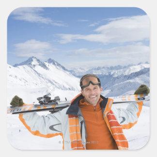 Innsbruck Österrike Fyrkantigt Klistermärke
